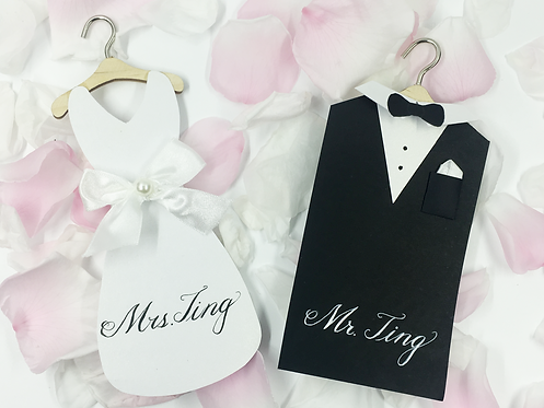 Pair Decor Cards (Bride & Groom)