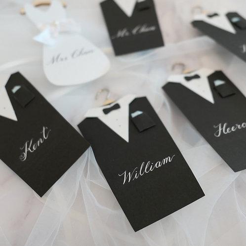 Handmade Invitation/ Thank You Cards (Groomsman)