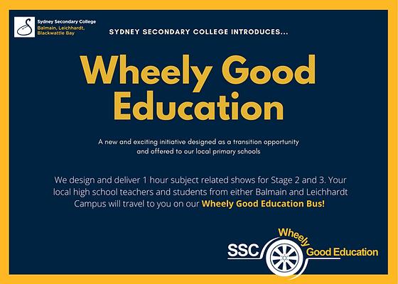 Sydney Secondary College Wheely Good Edu