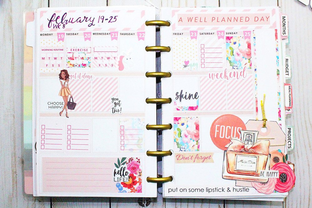 mini happy planner layout