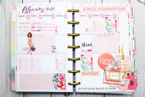 Mini Happy Planner Layout Decoration Inspiration | Plan with Me