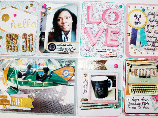 Project Life Layout: Sparkle and Shine