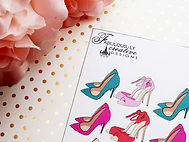 high heel and fashion planner stickers