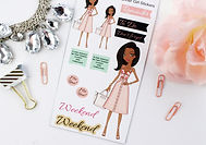 Fashion girl planner stickers and new releases