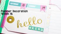 Planner Decoration: Let's Plan Week 16