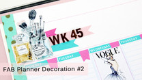 Plan with me: Decorating my FAB planner #2