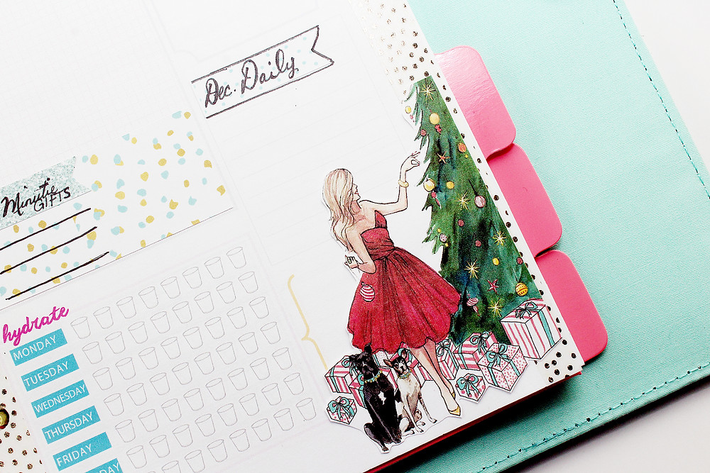 holiday theme planner decoration
