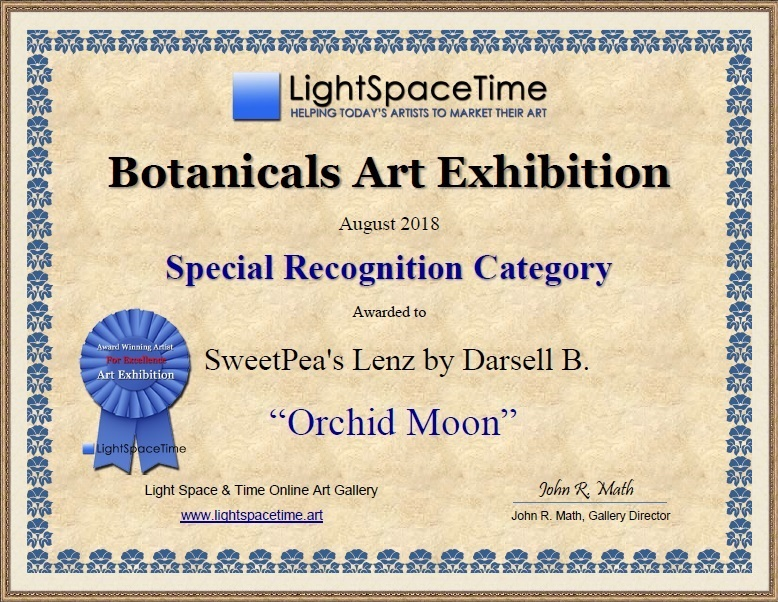 Orchid Moon - Special Recognition Certif
