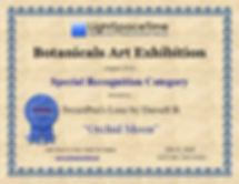 LST Certificate 2018 Botanicals Exhibiti
