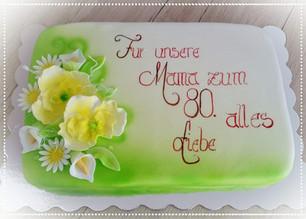 Geburtstagstorte 80