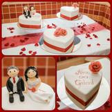 Herz Hochzeitstorte