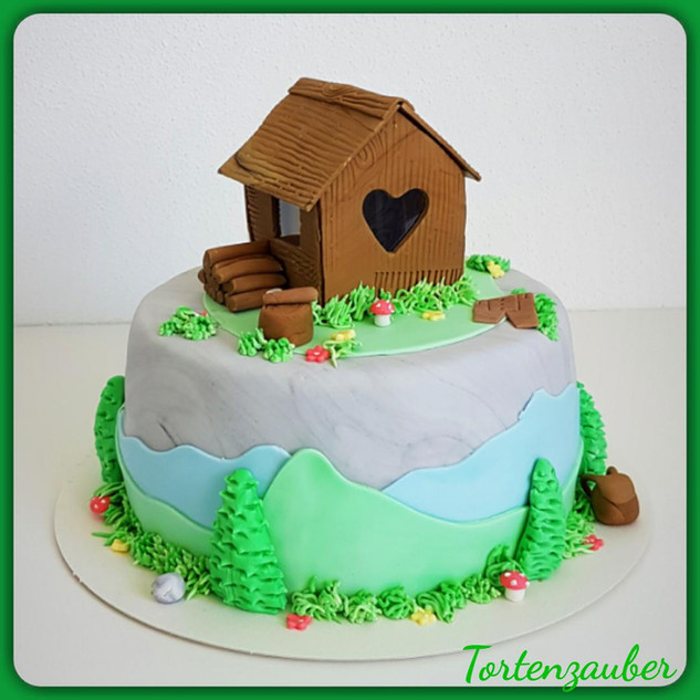 Hütten Geburtstagstorte