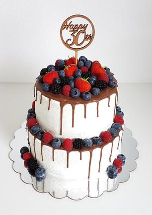 Fruchtige Schoko Geburtstagstorte