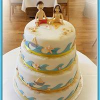 Hochzeitstorte Surfer
