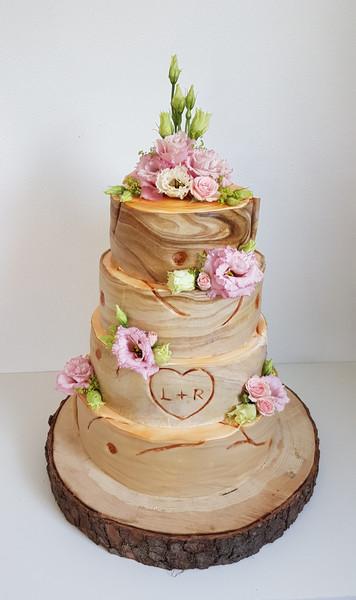 Baumoptik Hochzeitstorte