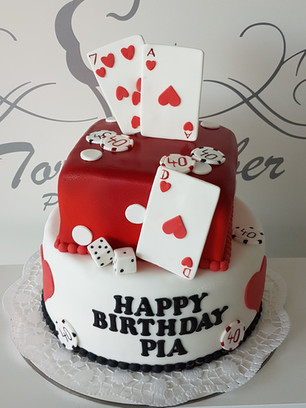 Las Vegas Geburtstagstorte