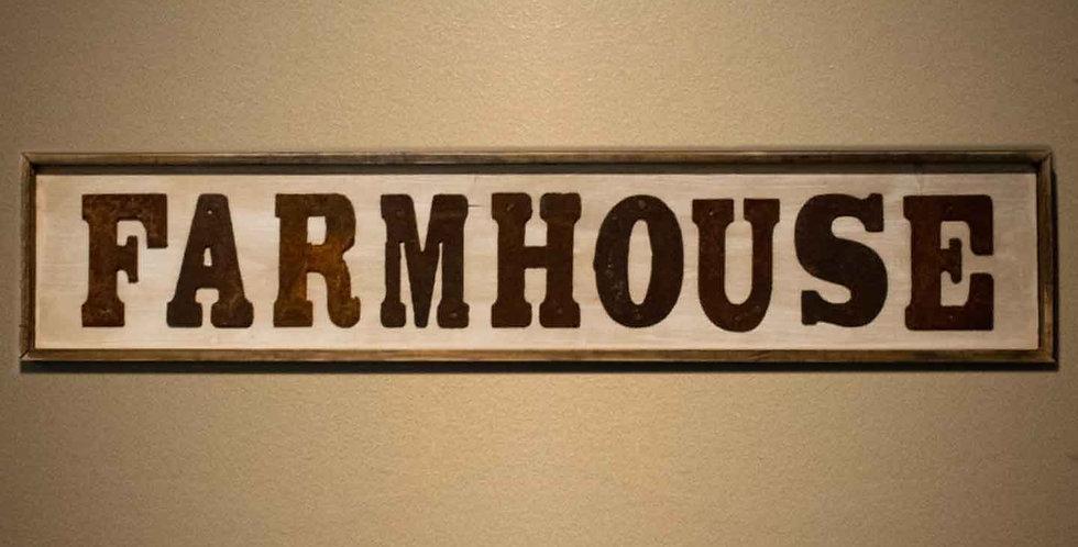"""Farmhouse"" - Framed Shiplap"