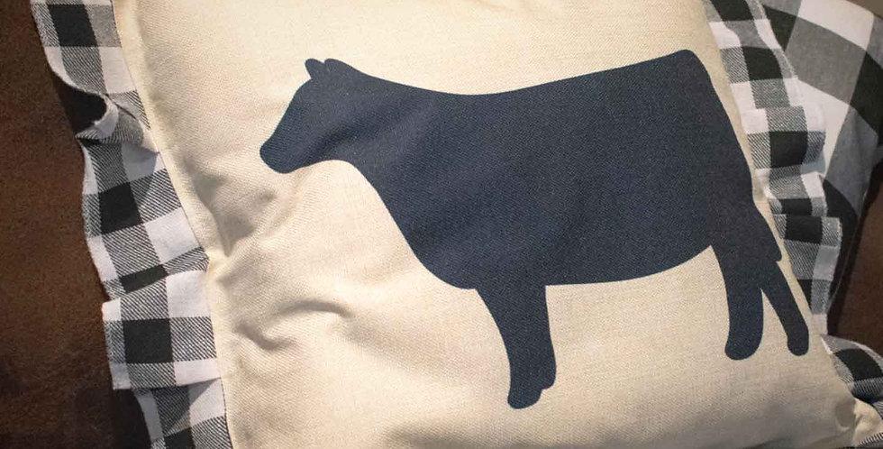 Black Heifer Pillow