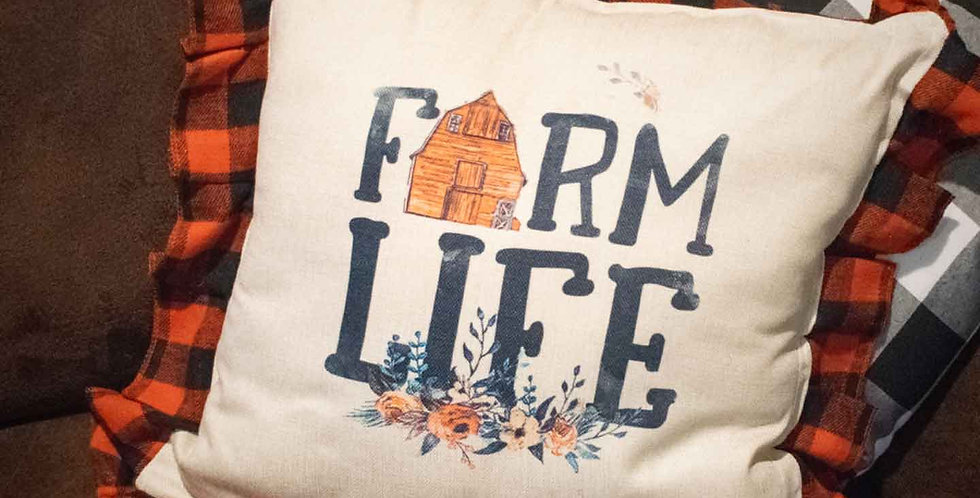 Red Farm Life Pillow