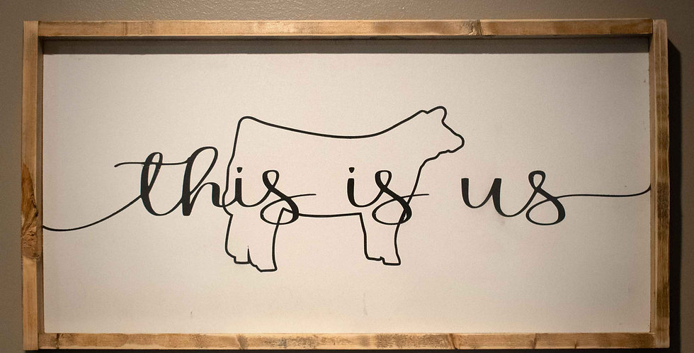 """""""this is us"""" - Wooden Decor"""
