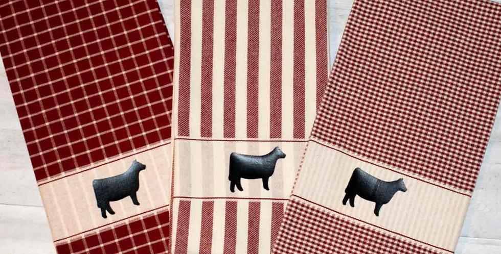 Red Vintage Towel