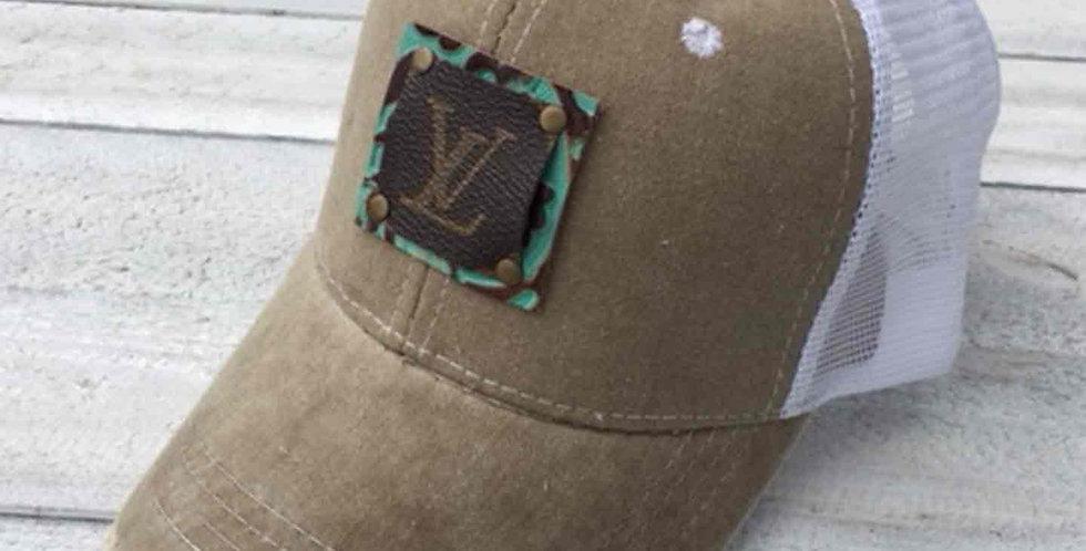 LV Distressed Khaki Cap