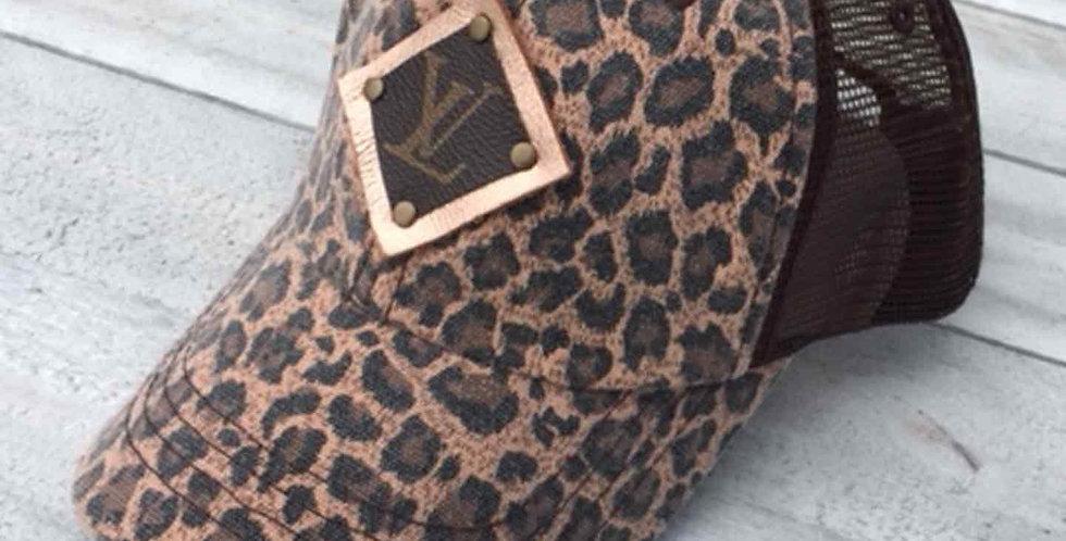 LV Distressed Leopard Print Cap