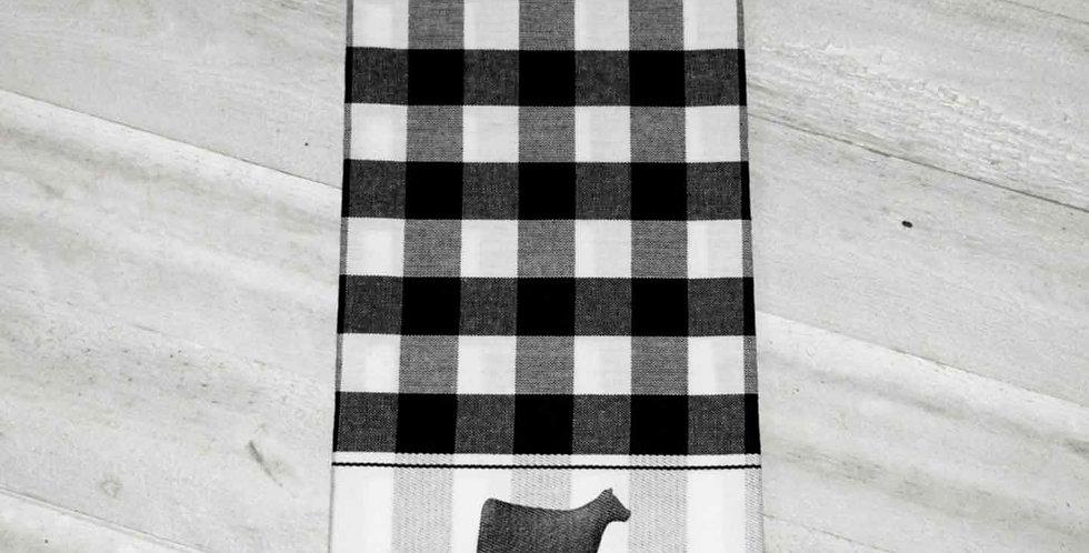 Black Buffalo Check Towel