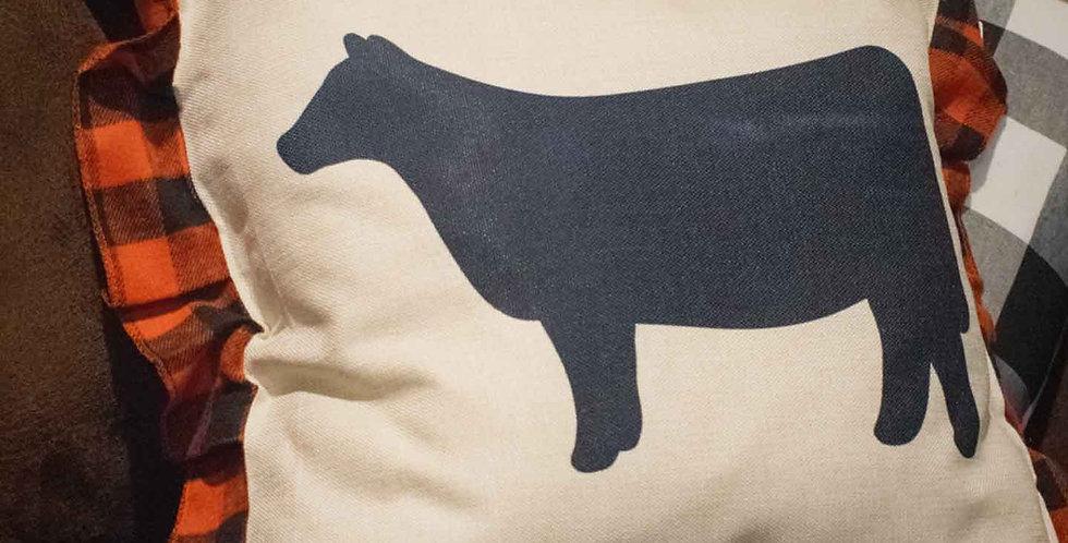 Red Heifer Pillow