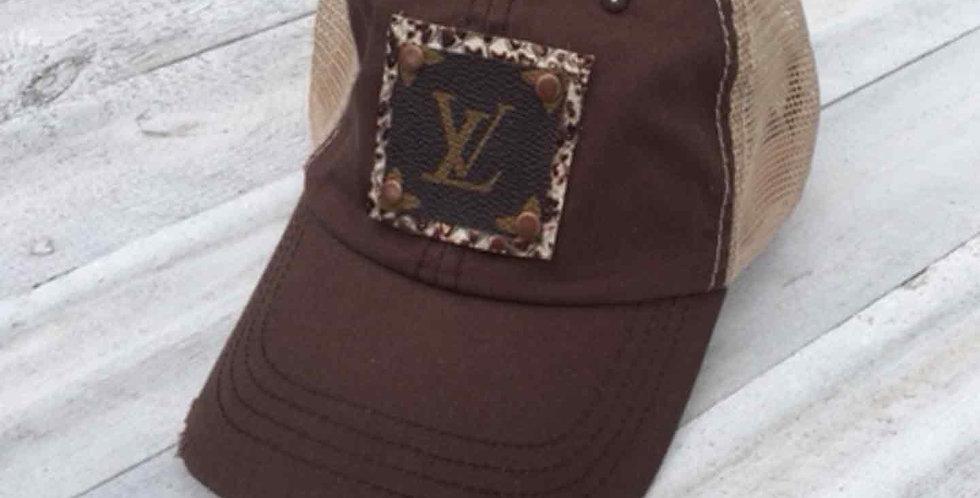 LV Distressed Brown Cap