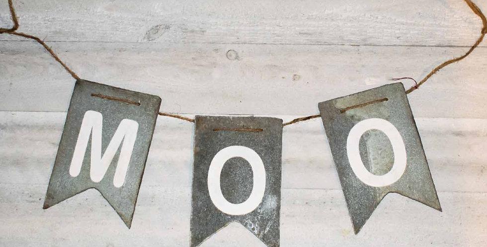 "Metal ""MOO"" Banner"