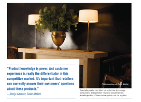PAINT AND DECORATING RETAILERS MAGAZINE: STORY ON SPECIALTY PAINTS