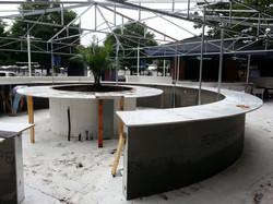 outdoor circular bar construction
