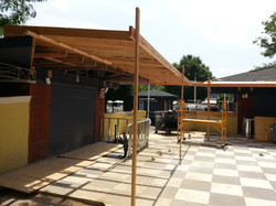 new awning construction