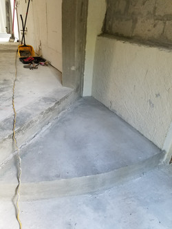 steps poured