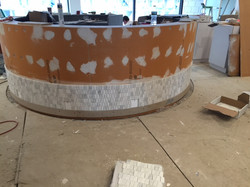circle bar tiling in progess
