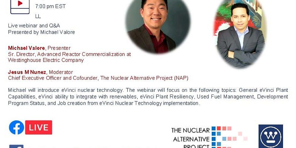 Tecnología de reactor nuclear eVinci: seminario web