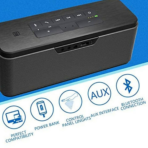 30W Portable Wireless Bluetooth Speaker with Power Adapter, Deep Bass Stereo Sou