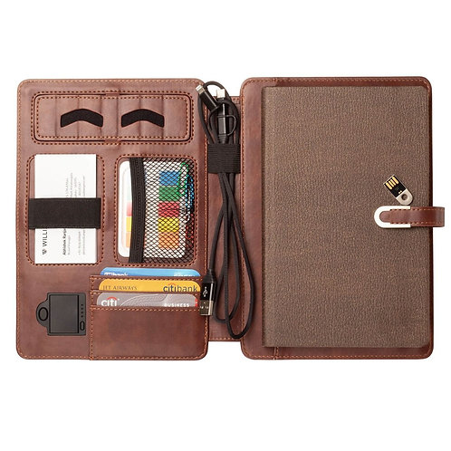 Notebook Diary with 16GB Pen Driver & Power Bank