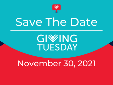 Save the date for Giving Tuesday - 30th November 2021