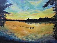Sunset Over Greig Lake 1.JPG