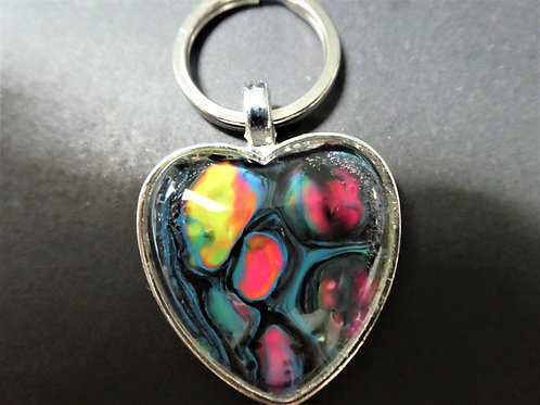 Neon Heart Keychain