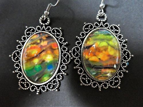 Yellow/Orange/Multi Drop Earrings