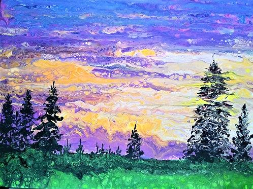 Purple Golden Sunset