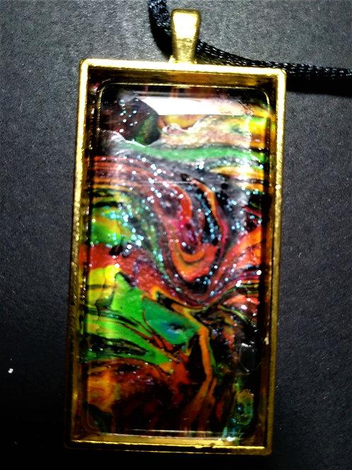 Unique multi-colored pendant necklace