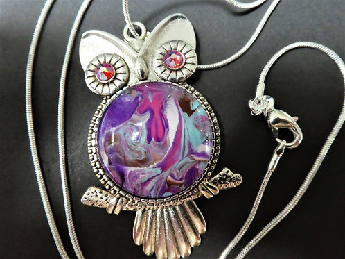 Owl Multi-colored Necklace