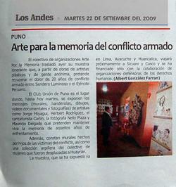 Arte por la Memoria- Los Andes