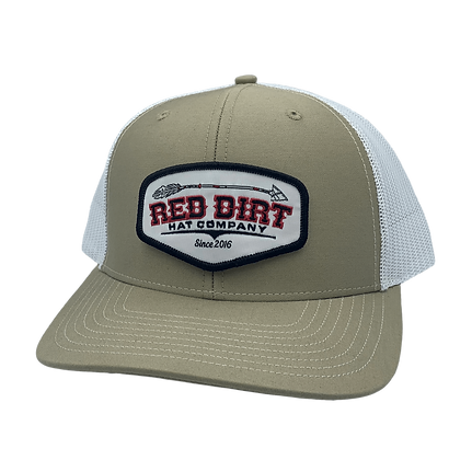 Red Dirt Broken Arrow khaki/white