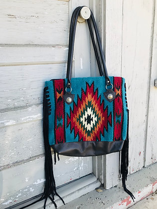 Revamped Navajo Purse- Artisian Turquoise
