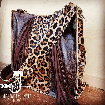 Handbag with Leopard Accents